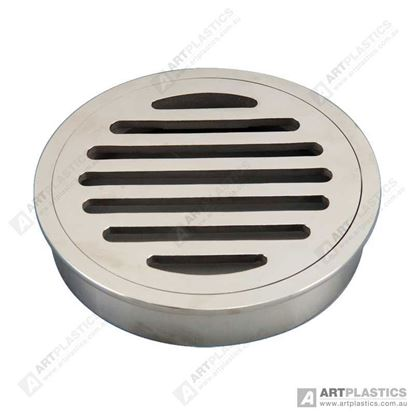 Picture of GRATE ROUND CHROME (SLOTTED 80MM)