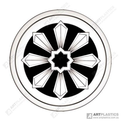 Picture of GRATE ROUND FEDERATION CHROME (80MM)